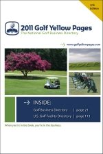 2011 Golf Yellow Pages cover