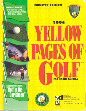 1994 Yellow Pages of Golf